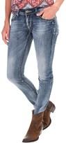 Rock & Roll Cowgirl Raw Edge Hem Skinny Jeans - Low Rise (For Women)