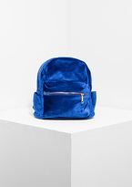 Missy Empire Cara Electric Blue Velvet Mini Backpack