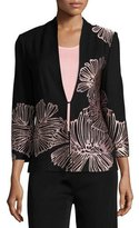 Misook Petal Pop Jacket, Black/Pink