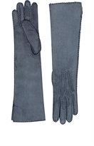 Barneys New York Women's Long Gloves-Light Blue