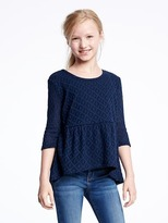 Old Navy Lace Peplum-Hem Swing Top for Girls
