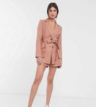 Splendid ASOS DESIGN Tall linen suit blazer