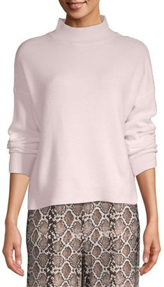 Time and Tru Women's Drop Shoulder Mock Neck Pullover