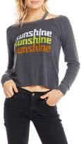 Chaser Sunshine Long-Sleeve Shoulder Cutout Tee