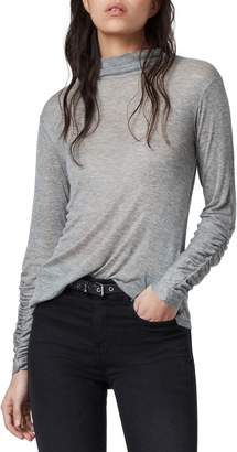 AllSaints Francesco Ruched Long Sleeve T-Shirt