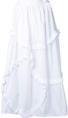 Tsumori Chisato patchwork frill skirt