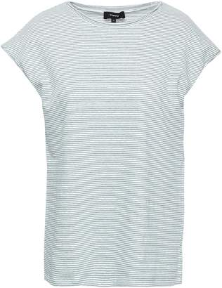 Theory Striped Slub Linen-blend Jersey T-shirt