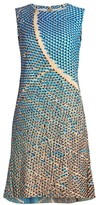 Akris Punto Solar-Print Sleeveless Flounce-Hem Dress