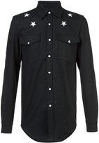 Givenchy star embroidered shirt - men - Cotton/Spandex/Elastane - M