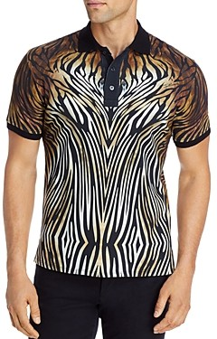 Just Cavalli Cotton Printed Slim Fit Polo Shirt