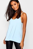 boohoo Alice Swing Cami duck egg blue