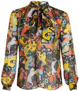 Mary Katrantzou Veddar tie-neck silk-chiffon blouse