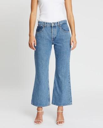 Rag & Bone Rosa Mid-Rise Cropped Flare Jeans