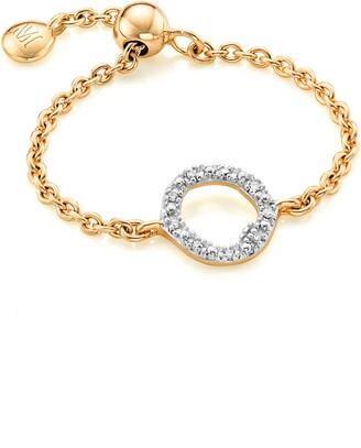 Monica Vinader Riva Mini Diamond Circle Adjustable Friendship Ring