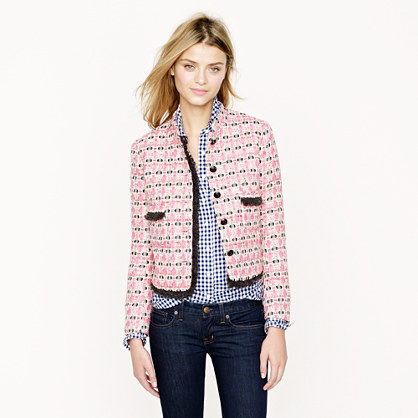 J.Crew Collection lady jacket in graphic tweed