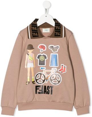 Fendi Kids FFast print sweatshirt