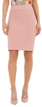 Nine West Textured Crepe Pencil Skirt