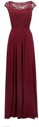 Wallis **Jolie Moi Berry Lace Maxi Dress