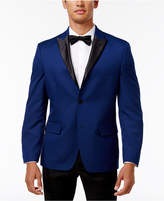Alfani Men's Slim-Fit Blue Micro-Grid Dinner Jacket, Created for Macy's