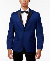 Alfani Men's Slim-Fit Blue Micro-Grid Dinner Jacket, Created for Macy's