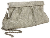 Zoe Adams Clape Swirl Beaded Clutch