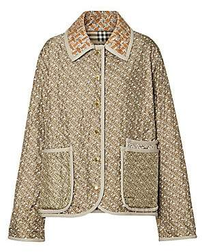 Burberry Women's Quilted Silk Printed Jacket