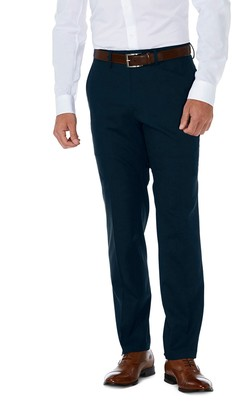 """Haggar Sharkskin Stretch Slim Fit Flat Front Suit Separate Pants - 30-34"""" Inseam"""