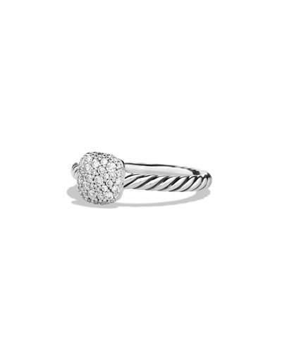 David Yurman Pavé Diamond Cushion Stacking Ring