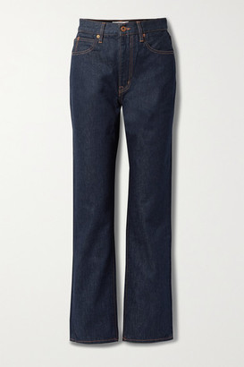 SLVRLAKE London High-rise Straight-leg Jeans - Dark denim