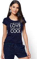 "New York & Co. ""East Coast Love, West Coast Cool"" Graphic Logo Tee"
