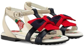Gucci Kids sandal with Web bow