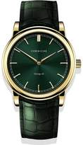 Corniche Watches Mens Heritage 40 Yellow Gold With Green Dial