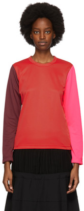 Comme des Garcons Red Colorblock T-Shirt