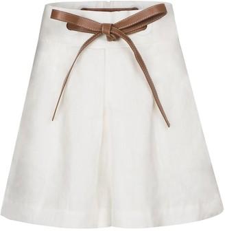 Zimmermann The Lovestruck linen shorts