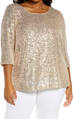 Alex Evenings Sequin Tunic