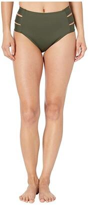 La Blanca Island Goddess High-Waist Pant (Olive) Women's Swimwear
