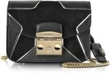 Furla Onyx Leather and Suede Metropolis DJ Mini Crossbody Bag w/Star