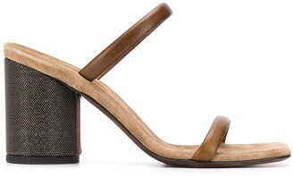 Brunello Cucinelli Block Heel Sandals