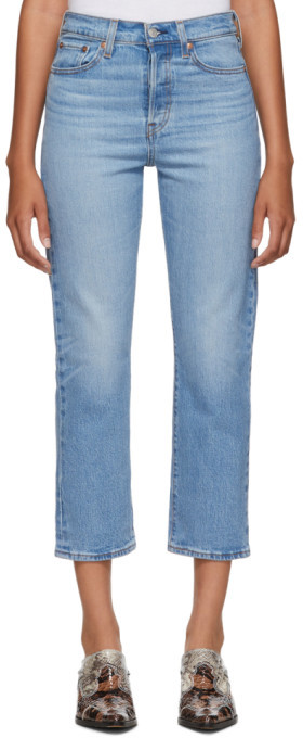 Levi's Levis Blue Wedgie Straight Jeans