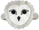 Tatty Devine Women's Snowy Owl Ring - Size J