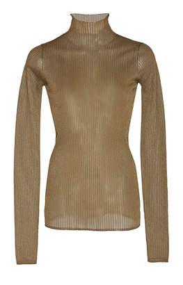 Vince Ribbed Lurex Turtleneck Sweater