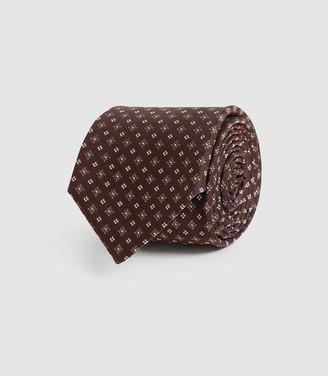 Reiss Lefty - Silk Blend Tie in Bordeaux