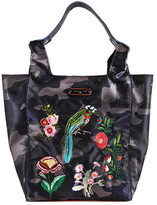Nicole Lee Women's Krissy Camouflage Embroidery Shopper Bag