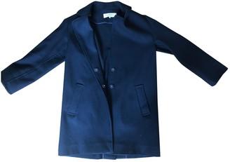Gerard Darel Navy Wool Coat for Women