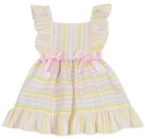 Rare Editions Baby Girls Foil Striped Seersucker Dress