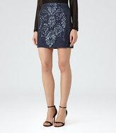 Reiss Georgianna Sequin-Embellished Mini Skirt