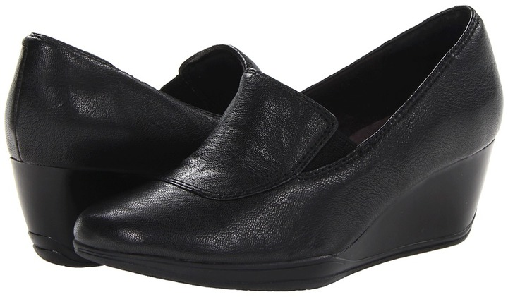 Clarks Portrait Dec (Black Leather) - Footwear