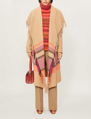 Altuzarra Cody fringed striped woven jacket