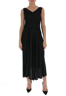 Pleats Please Issey Miyake V-Neck Pleated Dress