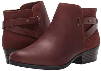 Clarks Addiy Gladys (Dark Tan Leather) Women's Boots
